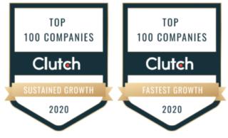 Clutch Top 100 Badges